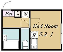 (仮称)目黒区目黒4丁目計画 1階ワンルームの間取り