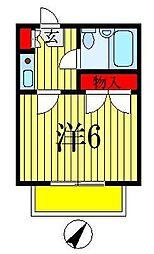 ヒルトップ海神[2階]の間取り