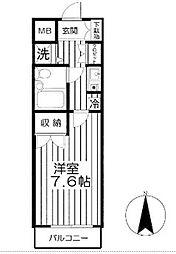メルベーユ山手台[201号室]の間取り