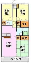 千葉県千葉市中央区末広1丁目の賃貸マンションの間取り