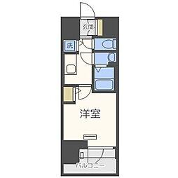 エスリード難波ステーションゲートサウステラス 7階1Kの間取り