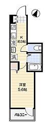 埼玉県八潮市大瀬4丁目の賃貸アパートの間取り