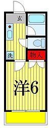 東京都足立区谷中5の賃貸アパートの間取り