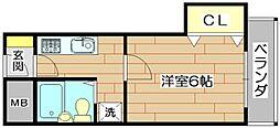 ハイツオーキタ竹橋[3階]の間取り