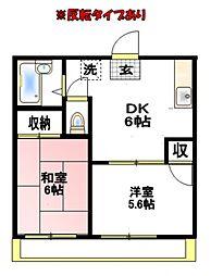 清川グリーンハイツ[2階]の間取り
