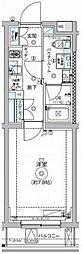 東急大井町線 自由が丘駅 徒歩15分の賃貸マンション 1階1Kの間取り