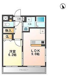 仮 藤里町マンション[3階]の間取り