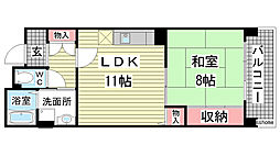 HAT神戸・灘の浜12号棟[302号室]の間取り