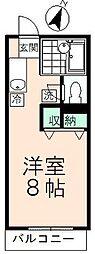 東京都日野市程久保3丁目の賃貸アパートの間取り