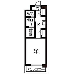 愛知県瀬戸市山口町の賃貸マンションの間取り