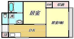 旭マンション[4階]の間取り