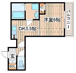 JR東海道・山陽本線 摩耶駅 徒歩14分の賃貸アパート 1階1DKの間取り