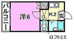 アロッジオ桜ヶ丘[203 号室号室]の間取り