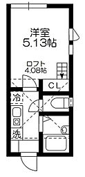 CAPECOD杉田[203号室]の間取り