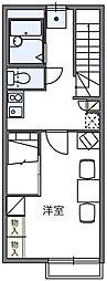 レオパレスサンリーブI[1階]の間取り