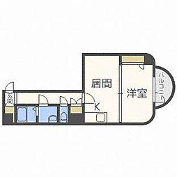 水車町マンション[4階]の間取り