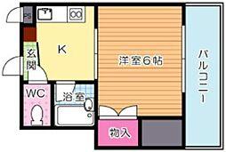 福岡県北九州市門司区光町1丁目の賃貸マンションの間取り