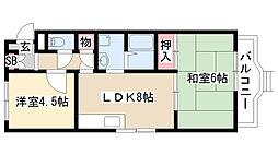 愛知県名古屋市天白区井口1丁目の賃貸マンションの間取り