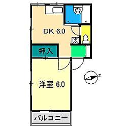 坂本ハイツ[2階]の間取り