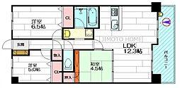 グランコート江坂3[7階]の間取り