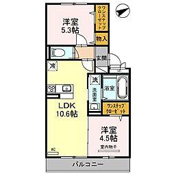 プラージュ sakigake[3階]の間取り