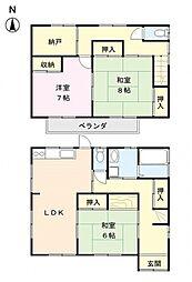 [一戸建] 埼玉県熊谷市箱田5丁目 の賃貸【/】の間取り