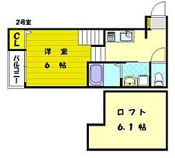 ブリリアント3[1階]の間取り