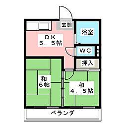 珠実荘[1階]の間取り