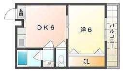 ピュアライフ幸福[2階]の間取り