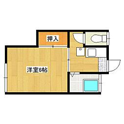 福山荘[2号室]の間取り