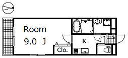 パールヒルズ下中居[405号室]の間取り