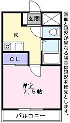エスポR3[413号室]の間取り