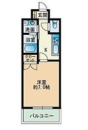 大三祇園ビル[502-号室]の間取り