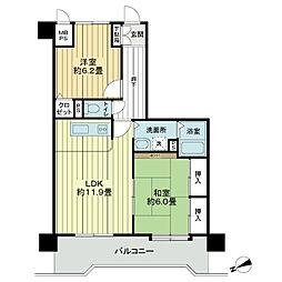 ライオンズマンション弘前公園[3階]の間取り