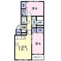 ラ・クレI[4階]の間取り