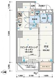 リヴシティ上野入谷[901号室]の間取り
