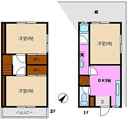 [テラスハウス] 千葉県松戸市幸田3丁目 の賃貸【千葉県 / 松戸市】の間取り