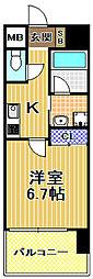 W.O.B.西九条[8階]の間取り