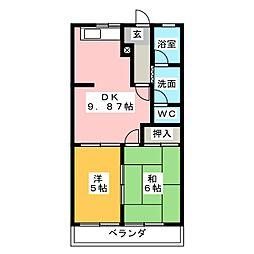 オリンピア A[2階]の間取り