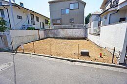 建築条件付き土地。3階建の間取り3LDKの建物参考プランをご用意しております。