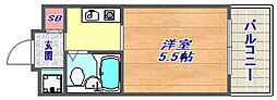 カサベラ岡本[1012号室]の間取り