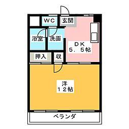ラハイナハイツヤキヤマ[4階]の間取り