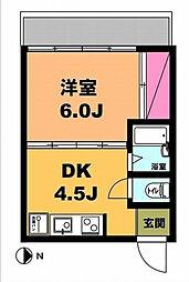 月村マンションNO1[3階]の間取り