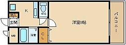 大阪府羽曳野市白鳥1丁目の賃貸アパートの間取り