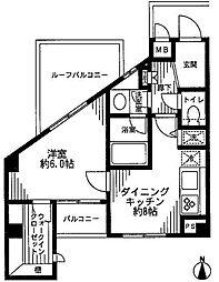デュオ・スカーラ徳丸[4階]の間取り