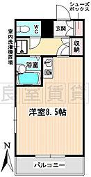 愛知県名古屋市昭和区明月町2丁目の賃貸マンションの間取り