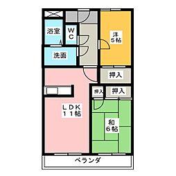 ハッピ−タウン和[2階]の間取り