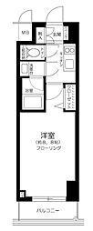 JR山手線 田町駅 徒歩10分の賃貸マンション 8階1Kの間取り