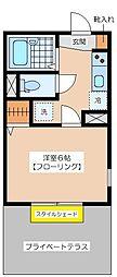 PLAZACOUAT UMEGAOKA[1階]の間取り