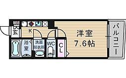 KW RESIDENCE AWAZA[8階]の間取り